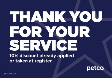 Thank you for your service - 10% Military Discount